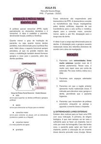 INTRODUÇÃO À PRÓTESE PARCIAL REMOVÍVEL (PPR)