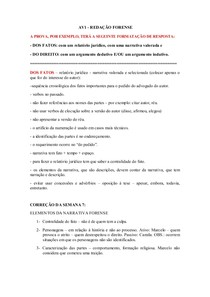 AV1 MATÉRIA - REDAÇÃO FORENSE