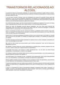 TRANSTORNOS RELACIONADOS AO ÁLCOOL