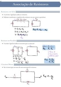 Associação de Resistores, Associação de fontes, divisores e transformação estrela - triângulo
