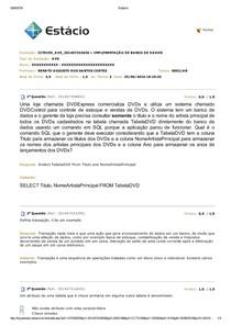 AVS Implementação de banco de dados