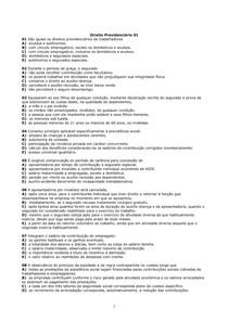 DIREITO -PREVIDENCIÁRIO 440 EXERCICIOS  COM GABARITO