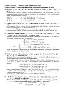 Lista de Exercícios 2 - Álgebra Linear - Felipe Moreti Bolini