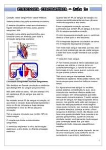 FISIOLOGIA CIRCULATÓRIA Aula 1 - PD