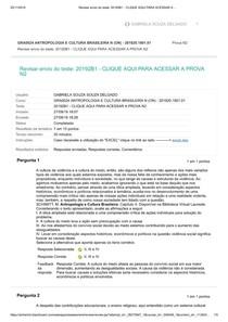 ANTROPOLOGIA E CULTURA BRASILEIRA N2