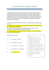 APOL  TÉCNICAS SECRETARIAS  CERIMONIAL E PROTOCOLO
