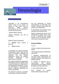Imunologia- Imunoprofilaxia