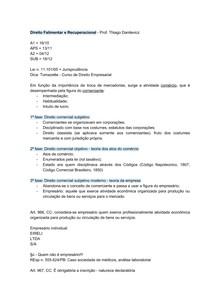 DIREITO FALIMENTAR - INTRODUCAO