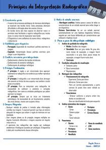 PRINCIPIOS DA INTERPRETAÇÃO RADIOGRAFICA