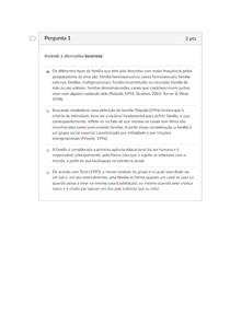 ATIVIDADE AVALIATIVA SEMANA 5 - FUNDAMENTOS DE EDUCAÇÃO INFANTIL - NOTA 10