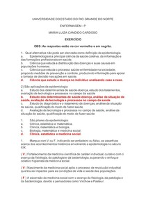 Estudo dirigido - Epidemiologia