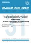 Conceitos educação e promoção mudanças USP