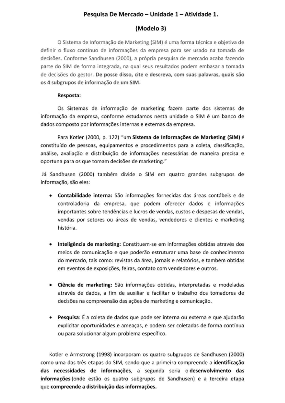 Pre-visualização do material Atividade 1 - Pesquisa de mercado - Unidade 1 (Modelo 3) - Gostou? Dá Um Like Né! - página 1