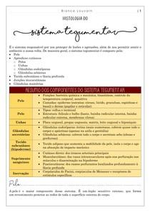 Histologia do sistema tegumentar (completo)