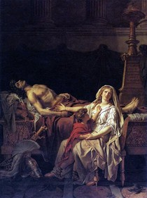 Jacques Louis David - Andromache mourns Hector