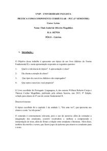 UNIP   PCC - Texto Narrativo - Modelo 1º semestre 2018