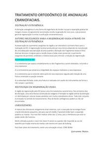 TRATAMENTO ORTODÔNTICO DE ANOMALIAS CRANIOFACIAIS