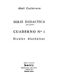 Abel Carlevaro   Serie Didáctica para guitarra   Tomo 1 al 4