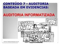 Auditoria Baseadas em Evidencias