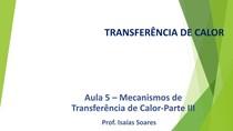 Aula 5 - Mecanismos de Transferência de Calor - Radiação