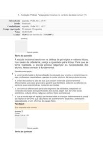 prova 2 Avaliação_Práticas Pedagógicas Inclusivas no contexto da classe comum