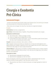 Cirurgia e Exodontia