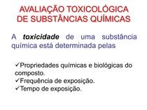 A4 AVALIAÇÃO TOXICOLÓGICA DE SUBSTÂNCIAS QUÍMICAS