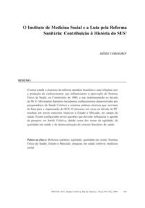 ARTIGO REFORMA SANITÁRIA