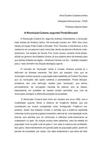A Revolução Cubana, segundo Theda Skocpol