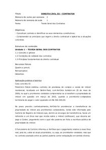 Caderno de exercicios- Direito Civil III- obrigações