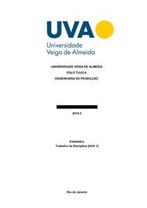AVA1 ESTATÍSTICA - UVA