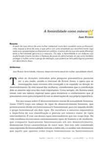 10_RIVIERE_A feminilidade como máscara