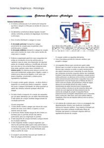 Sistemas Orgânicos   Cardiovascular   Mini resumo