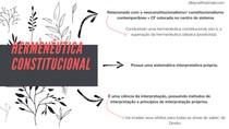HERMENÊUTICA CONSTITUCIONAL - CONSTITUCIONALISMOS