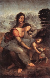 Leonardo Da Vince - The Virgin and Child with St Anne