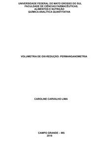 Volumetria de oxi-redução: Permanganometria