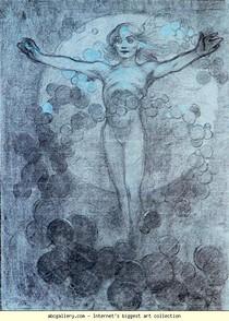 Alphonse Mucha - Figura de pé