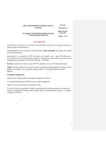 MODELO Procedimento Operacional de equipamentos - Comentado