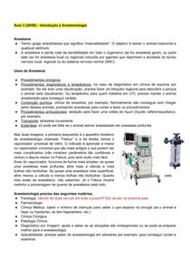 Introdução à Anestesiologia