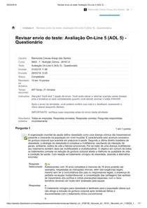 Avaliação On-Line 5 (AOL 5) - _