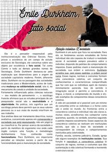Émile Durkheim fato social - Sociologia