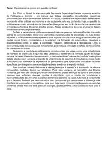 Redação modelo: O politicamente correto em questão no Brasil
