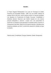 PIM 3 - VALE- GESTAO FINANCEIRA