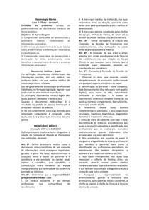 Deontologia Médica - Documentos Médicos