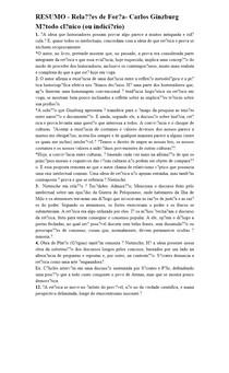 RESUMO - Relações de Força - Carlos Ginzburg