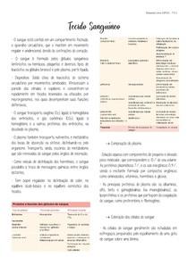 Tecido Sanguíneo (Cap. 12 - Junqueira e Carneiro 13ª ed.)