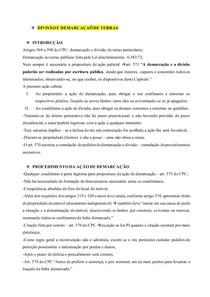 AÇÕES ESPECIAIS - DIVISÃO E DEMARCAÇAÕ DE TERRAS
