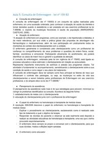 Aula 5: Consulta de Enfermagem – lei nº 159/83