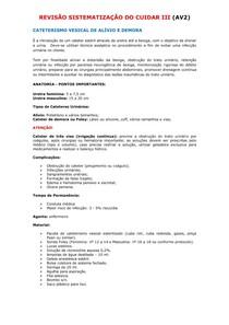 REVISÃO SISTEMATIZAÇÃO DO CUIDAR III  (SVA e SVD)