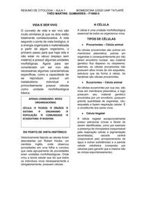 RESUMO CITOLOGIA BASICA